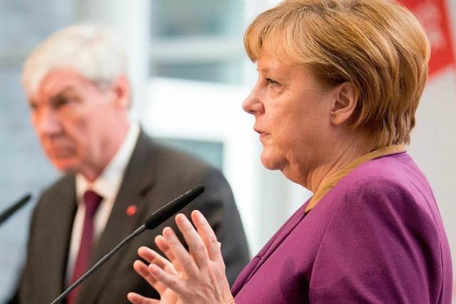Merkel umgarnt die Gewerkschaften