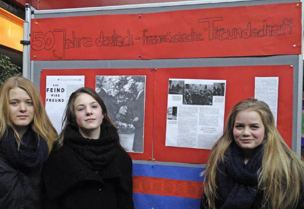 Französischschüler aus den 7. und 8. K... der deutsch-französichen Aussöhnung.     Foto: MM