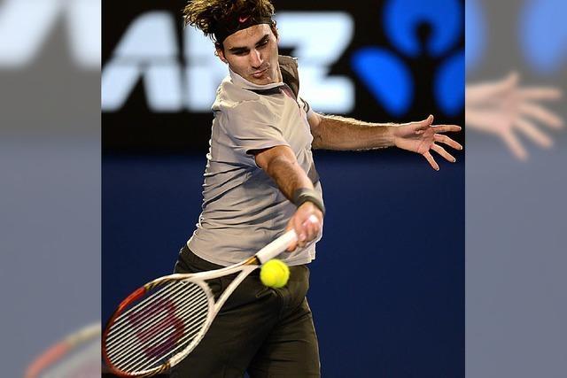 Federer baut seine Rekordserie aus