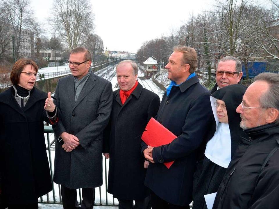 Keine Schandmauer durch Offenburg: Mit... Manfred Wahl  von der BI Bahntrasse.   | Foto: Helmut Seller