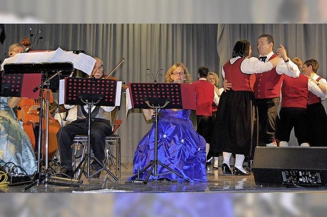 Klassische Blasmusik und leicht rockiger Mozart