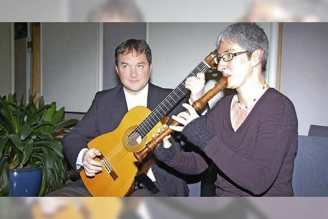 Blockflöte trifft auf Gitarre