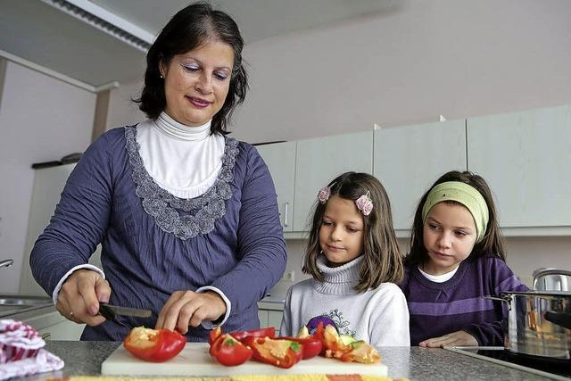 Mütter kochen für Schüler
