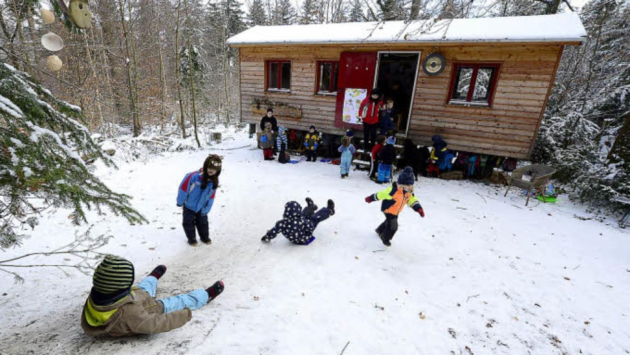 Schnee ist das Allerbeste – die ...garten haben einen eigenen Mini-Hügel.    Foto: Ingo Schneider