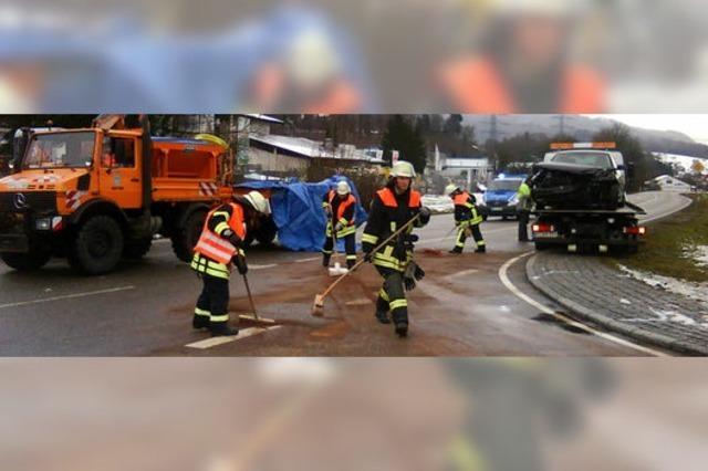 Schwerer Unfall auf B 518