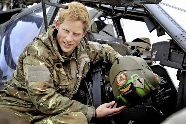 Prinz Harry, der Stolz der Armee