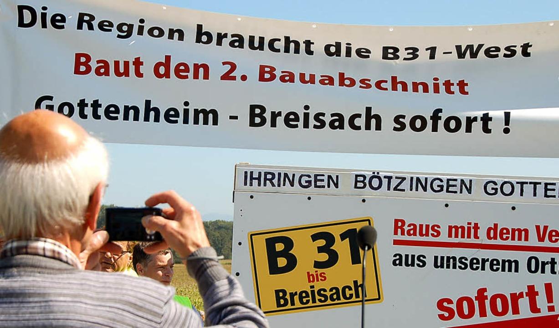 Bei der Verkehrsfreigabe des ersten Ba...em Unmut über den Planungsstopp Luft.   | Foto: Archivfoto: Kathrin Blum