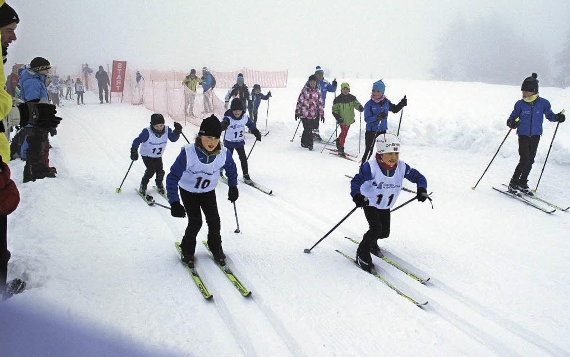 Grundschulena uf olympischem Kurs am Feldberg  | Foto: Annemarie Zwick