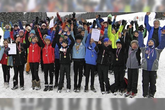 Skier und Schokoküsse