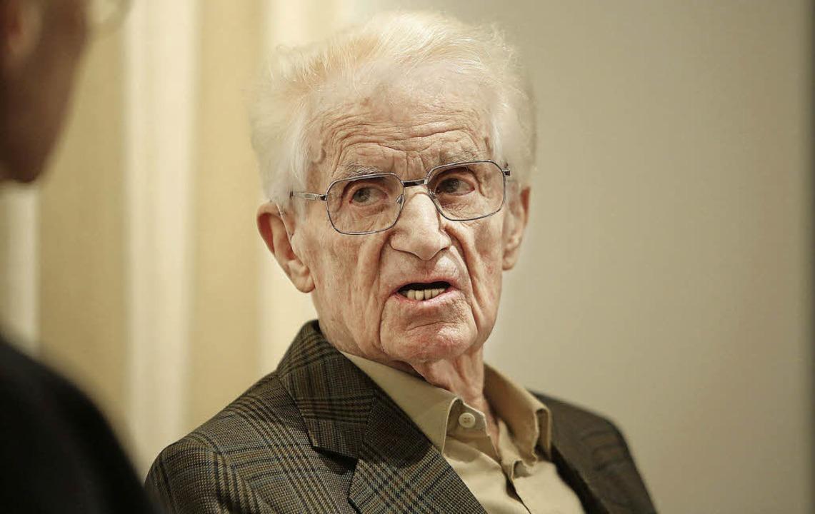 Zeitzeuge: Alfons von Deschwanden (91)...iter das Morden der Nazis überlebten.   | Foto: Christoph Breithaupt