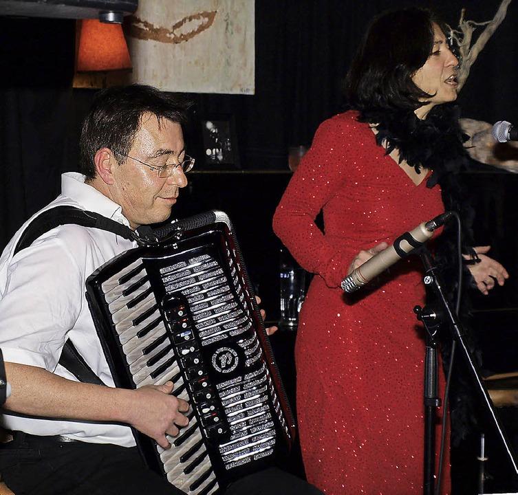 Vera Maier mit Thomas Allgeier   | Foto: Marion Pfordt