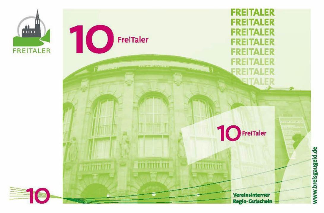 Der grüne Zehn-Freitaler-Schein zeigt ...-FotoNurRepro>Privat</BZ-FotoNurRepro>  | Foto: Privat