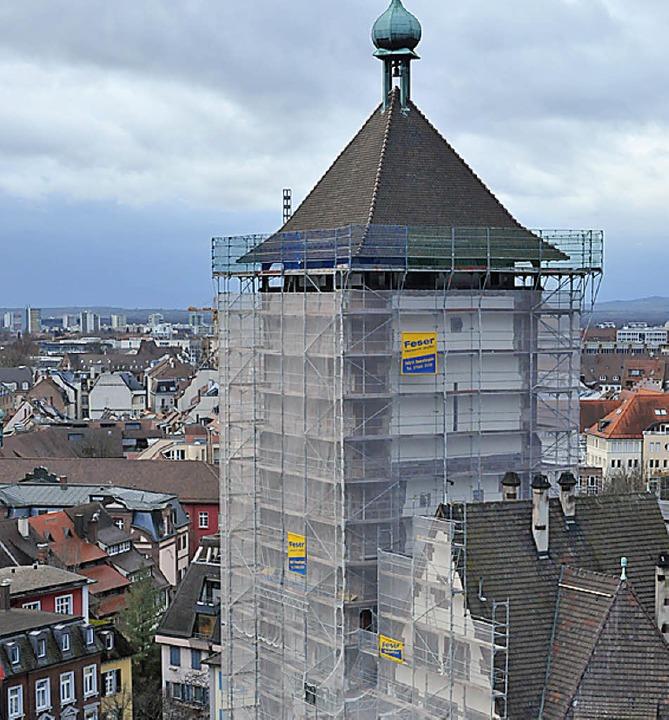 Ein Wahrzeichen bleibt vorerst hinter Gittern.   | Foto: Michael Bamberger
