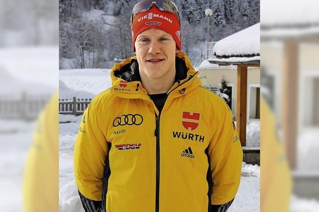 Biathlet Roman Rees lange auf Medaillenkurs