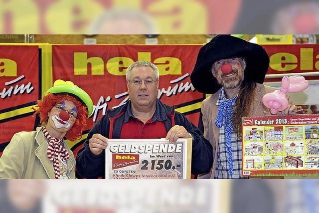 Scheck für Klinik-Clowns