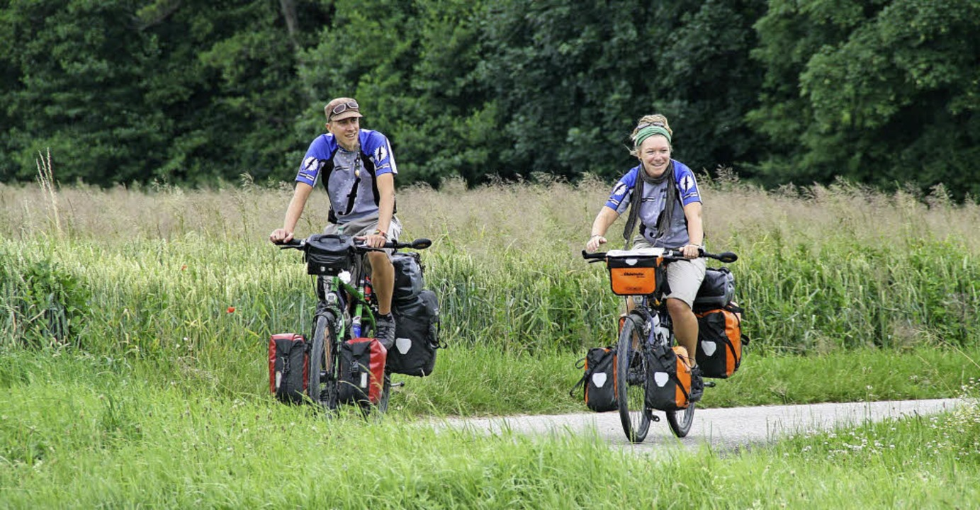 Per Rad um die halbe Welt:  Angela Friedel und Philipp Porsche  | Foto: Angela Friedel und Philipp Porsche