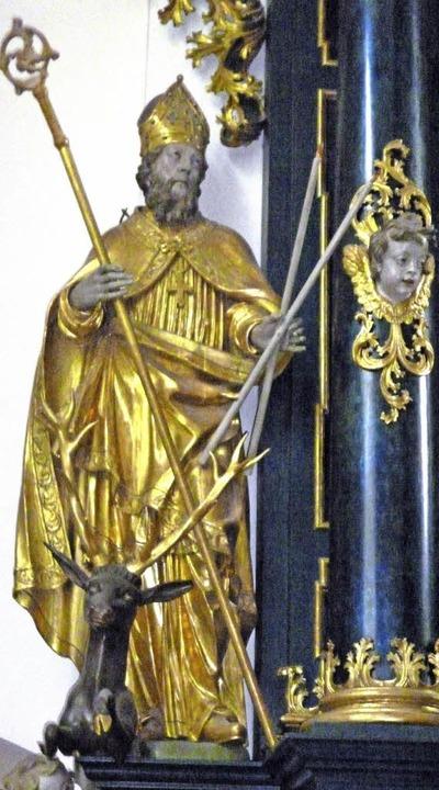 Blasiusdarstellung in der heutigen Kir...kloster von St. Blasien. Thomas Mutter  | Foto: Thomas Mutter