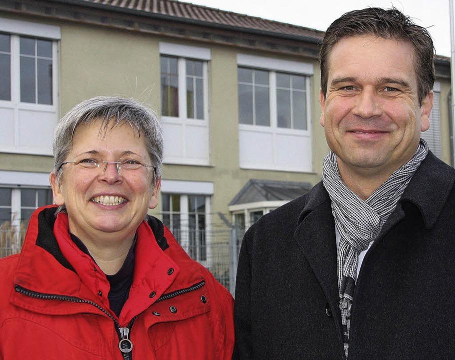 Andrea Schmitt und Hans-Jörg Hisam, Ge...tsführer der Ziemann Sicherheit GmbH.     Foto: Silvia Faller/privat