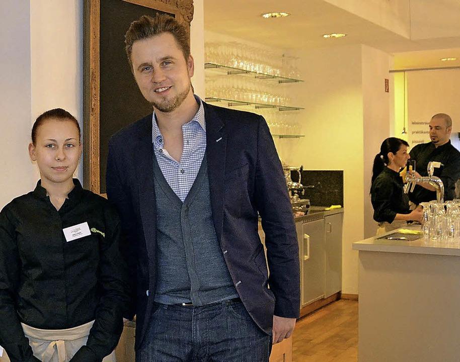 """Daniel Wölfle, Geschäftsführer des Ver...Restaurant """"schlipf@work"""".    Foto: Steineck"""