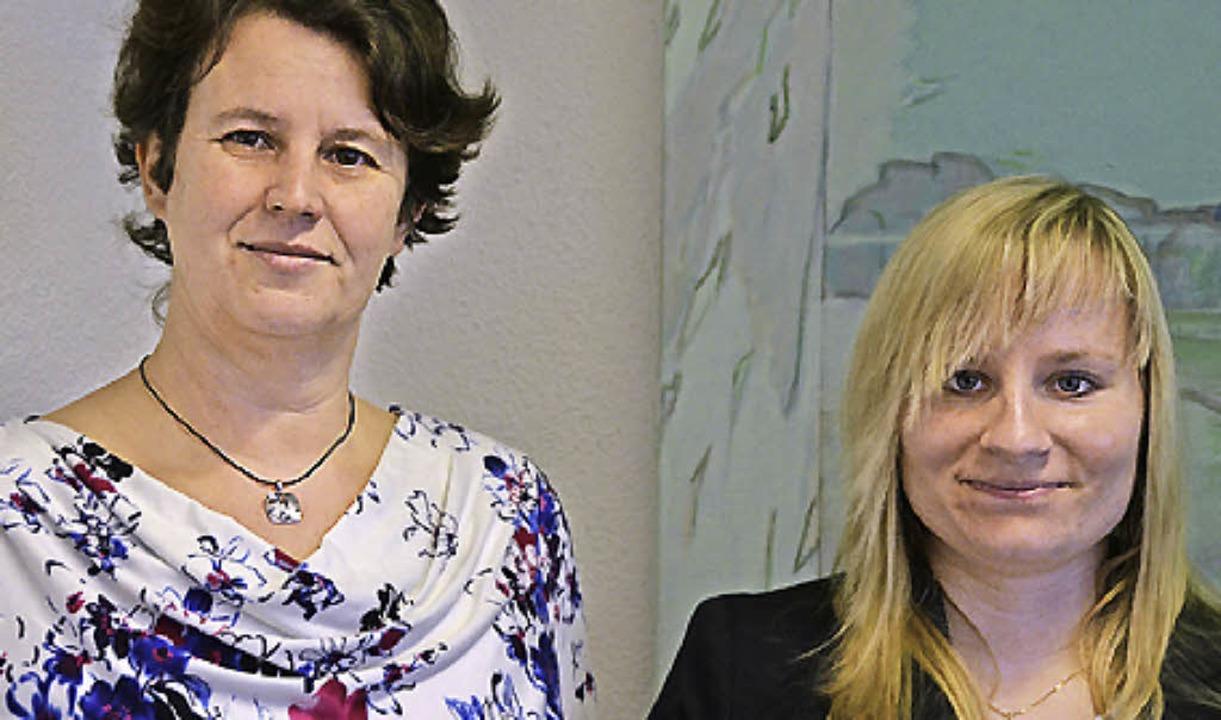Britta Abt-Staub und Yvonne Blum (von links)    Foto: Verena Pichler