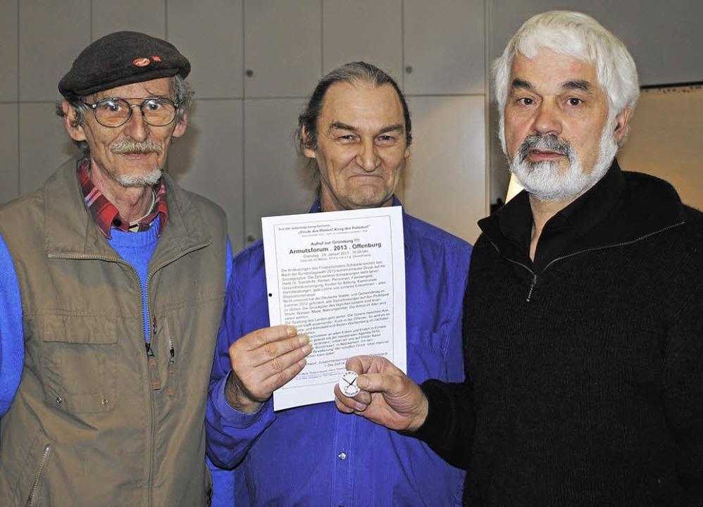 Die drei Initiatoren des Armutsforums ...e, Heinz Pawliczek  und Roland Saurer     Foto: robert ullmann