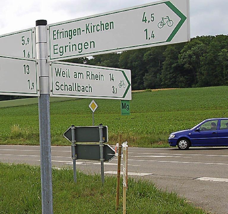 Siegfried Kurz: Der Lückenschluss im R...chen Egringen und Kandern ist wichtig.    Foto: Langelott