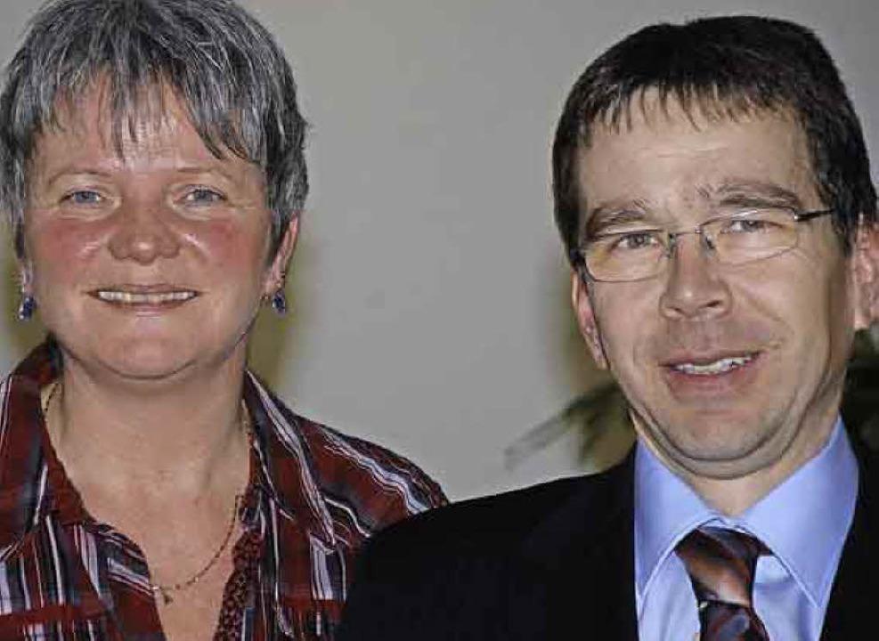 Ute Vogt und Ulf Schwarzburg  | Foto: Gertrude Siefke