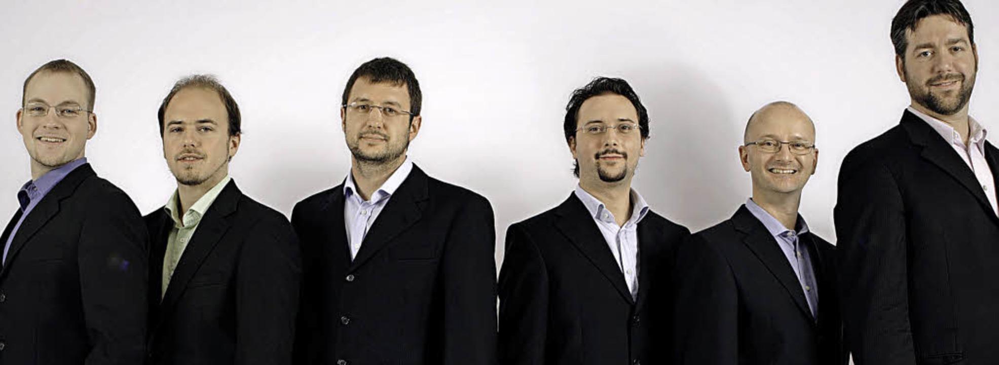 Sechs Sänger aus fünf europäischen Län...s 2004 gegründete Ensemble Cinquecento  | Foto: Petra Benovsky