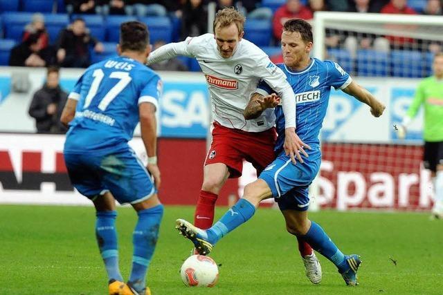 Hoffenheim schlägt den SC Freiburg mit 2:1