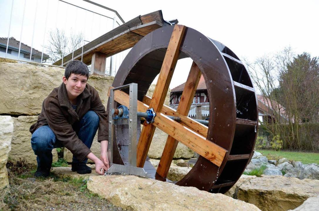 Aaron Gass, Schüler Jugendhilfezentrum St.Anton, Riegel a.K.  ist Energieexperte  | Foto: Alexander Preker