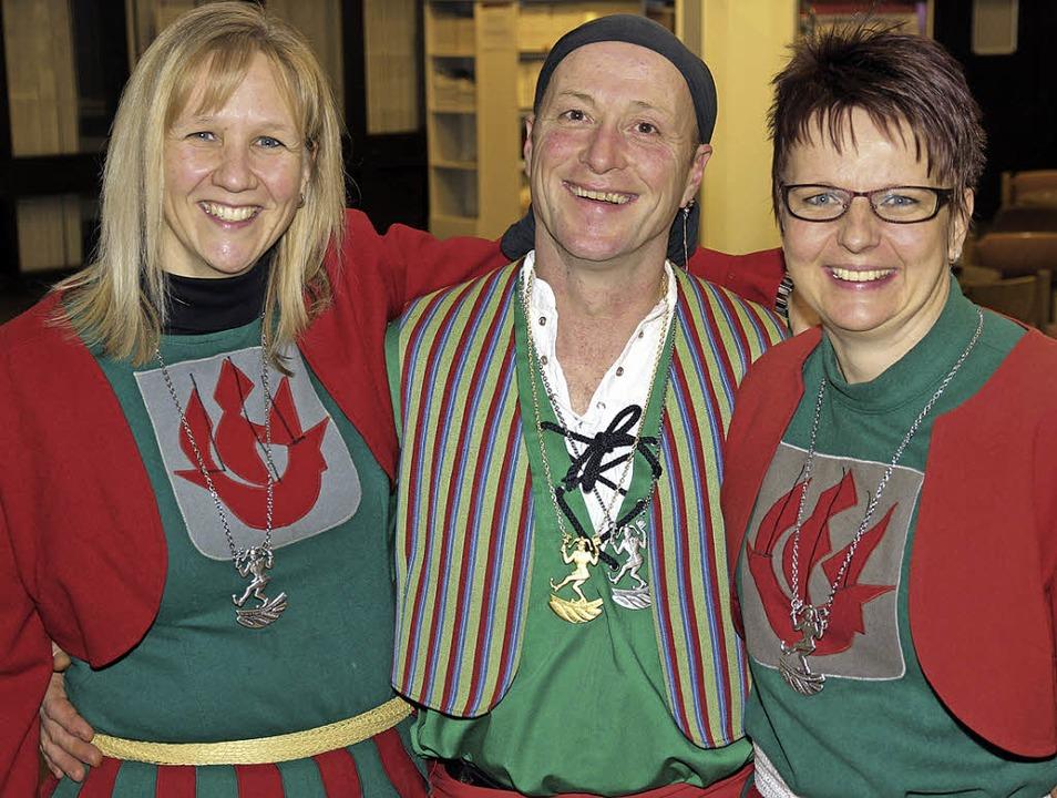 Verbandsorden für verdienstvolle langj...hmann, Klaus Kreuz und Tanja Schwörer     Foto: Eva Korinth