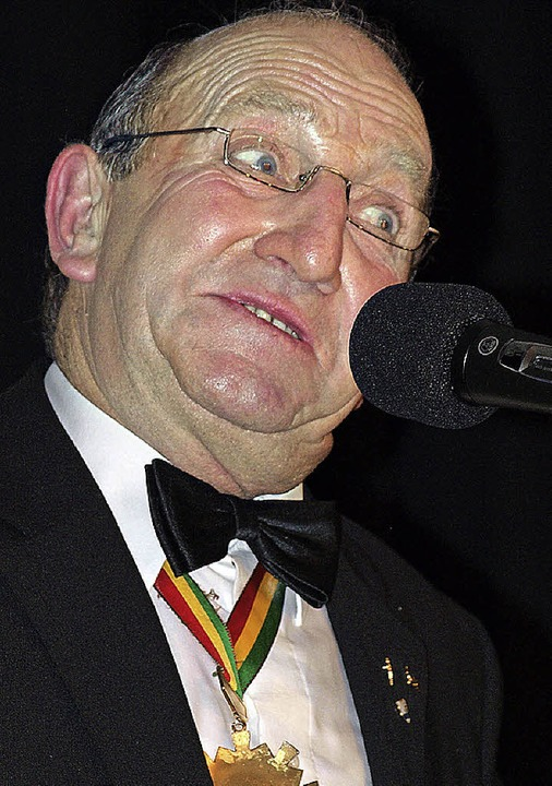 Zunftmeister Hansi Gempp als aktiv-passiver Rentner.  | Foto: Paul Schleer