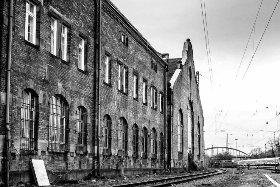 Die alte Lokhalle im Güterbahnhof Nord (Foto: Carlotta Huber)
