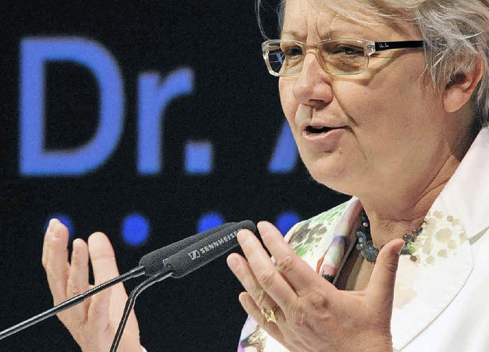 Annette Schavan (CDU) darf künftig keinen akademischen Titel mehr tragen.   | Foto: dpa