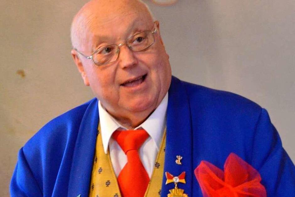 Zunftmeister Gerhard Vogel machte sich über Rentnerleben närrische Gedanken. (Foto: Ingrid Böhm-Jacob)