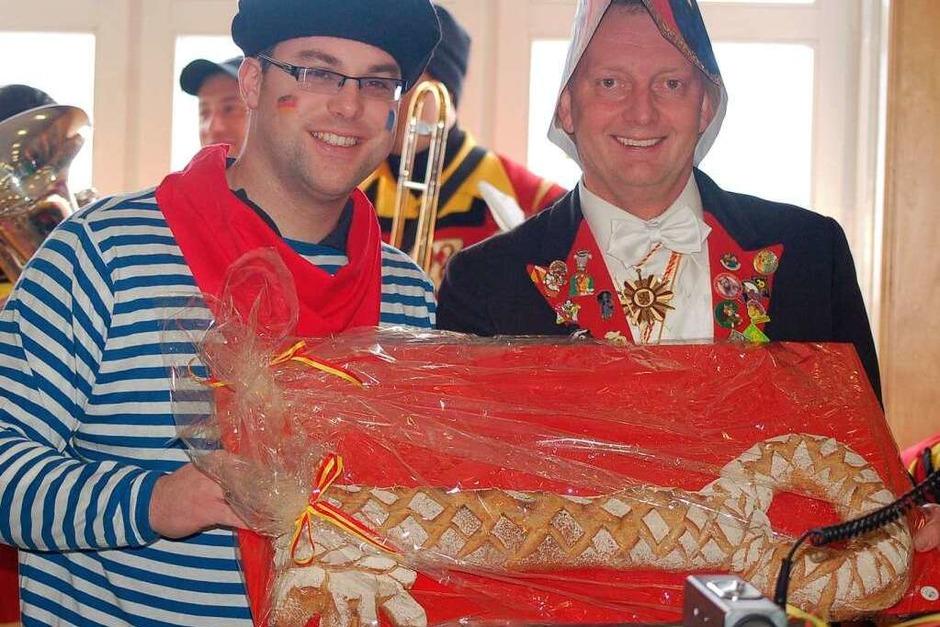 Bunt ging es in Laufenburg in den Altstadtgassen und im Rathaus zu. (Foto: Hildegard Siebold)