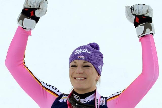 Maria Höfl-Riesch holt Gold in der Super-Kombination