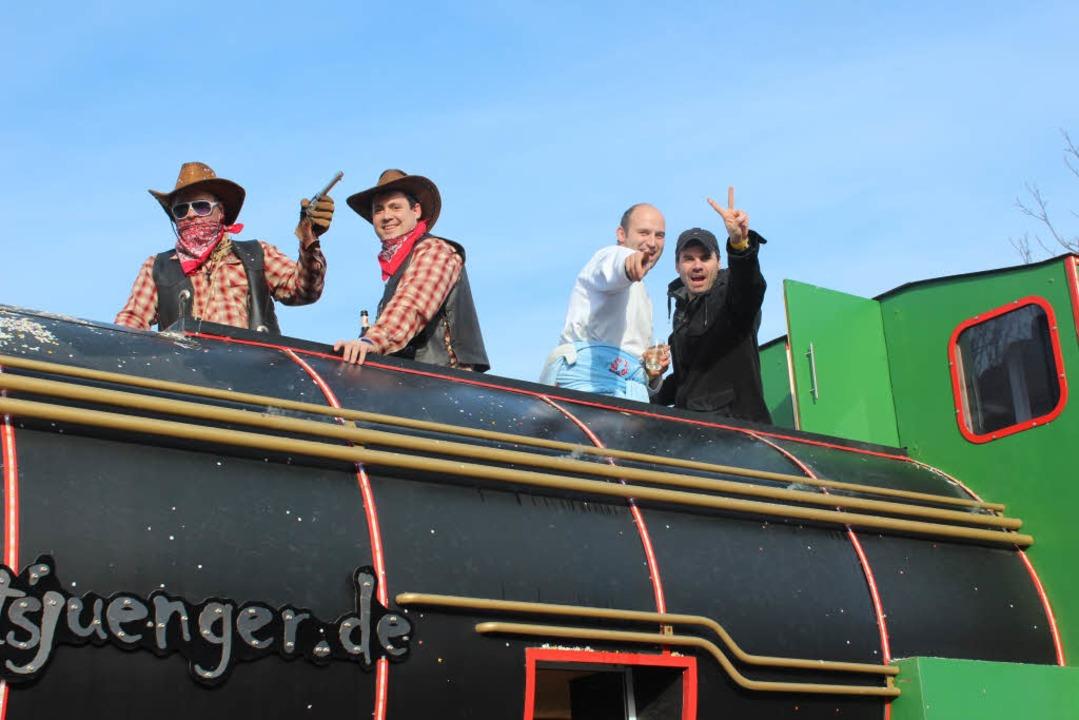 Der Western- Express der Fasnachtsjünger.  | Foto: Mario Schöneberg