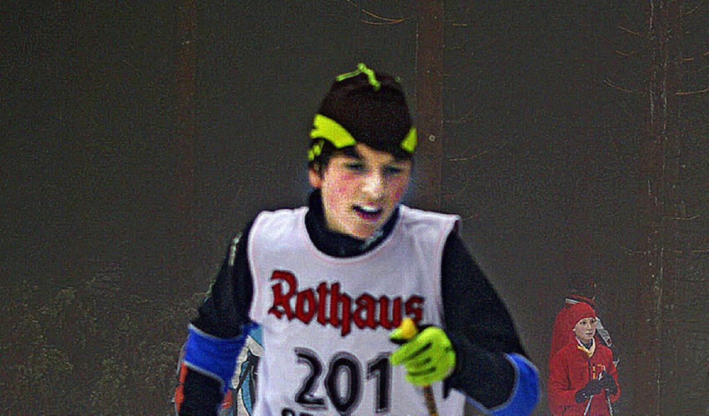Der zwölfjährige Peter Hensler lief be... schnellste Zeit über vier Kilometer.   | Foto: Helmut Junkel (A)