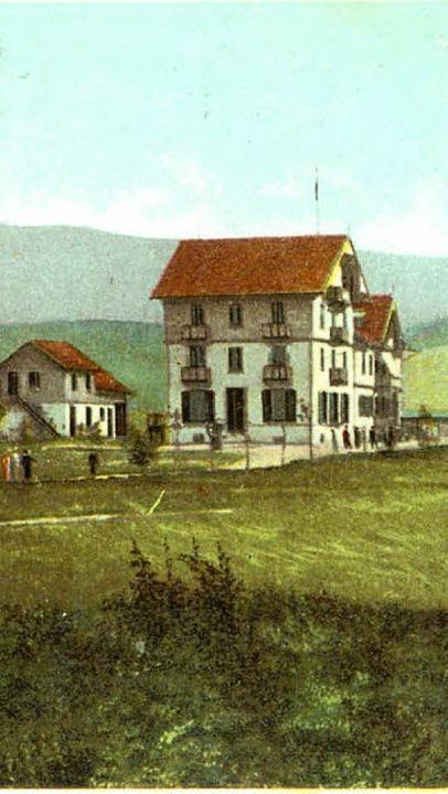 Die Luisenhöhe im Wandel der Zeit: Das... in Sanierung befindliche Haus heute.   | Foto: Kreisarchiv Breisgau-Hochschwarzwald/Tanja Bury