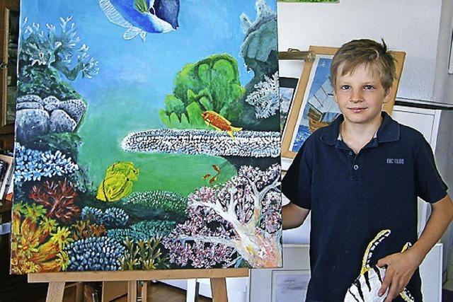 Ephraim Heftrich und junge Künstler