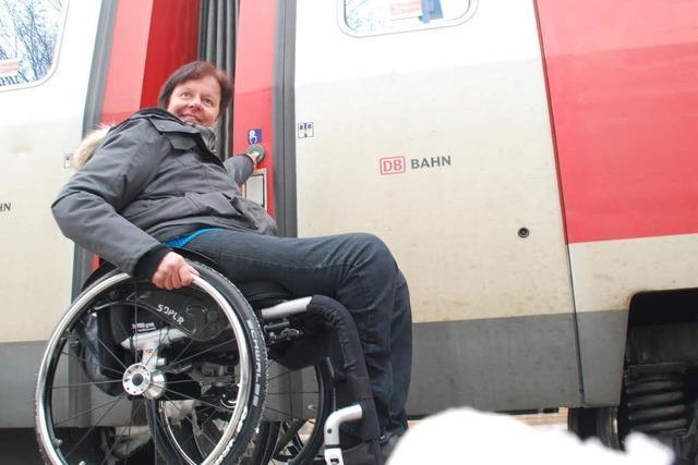 So führt die Bahn Rollstuhlfahrer in die Irre