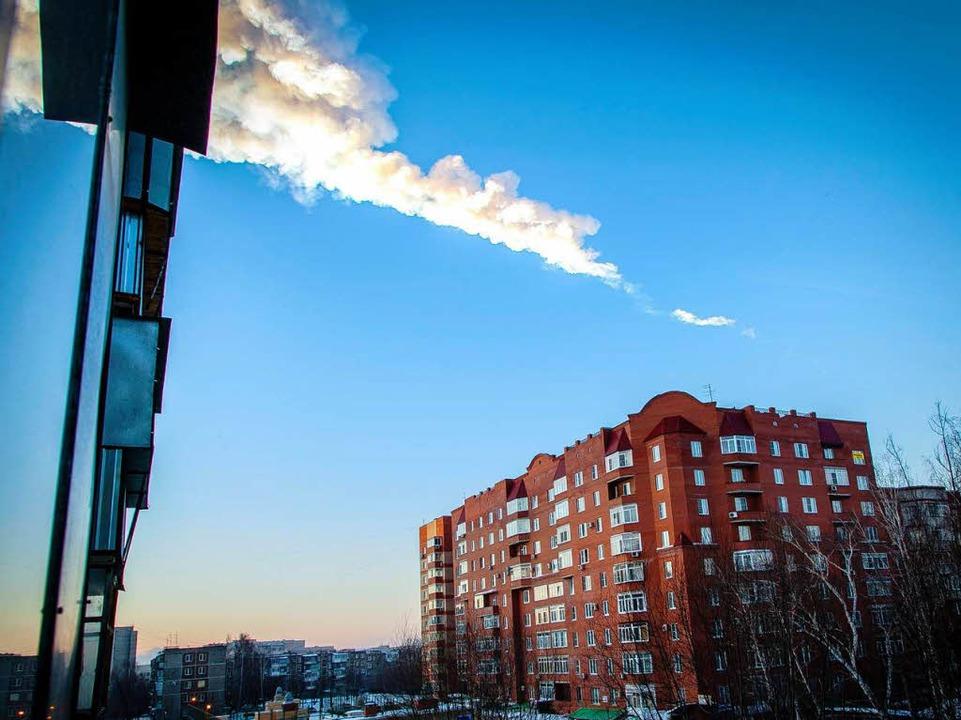 Der Meteorit am Himmel  | Foto: AFP