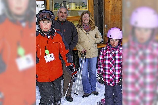 Loipenspur bis zum Skilift