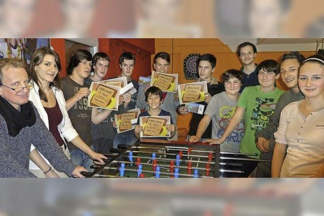 Kicker-Hochburg stellt alle Platzierten