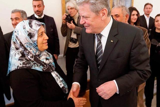 Der Bürger Gauck schaut um die Ecke