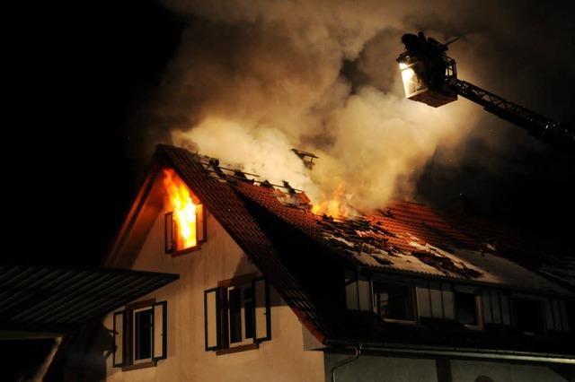 Dachstuhlbrand in Dörlinbach – Haus unbewohnbar