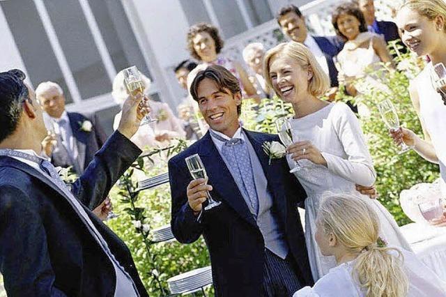 Auf das Brautpaar!