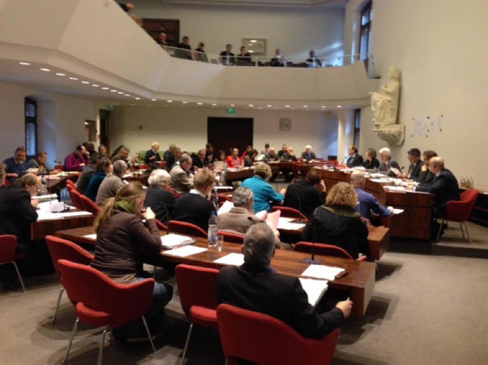 Der Freiburger Gemeinderat am Dienstagnachmittag.  | Foto: Joachim Röderer