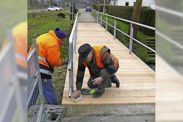 Brücke über die Schutter ist erneuert
